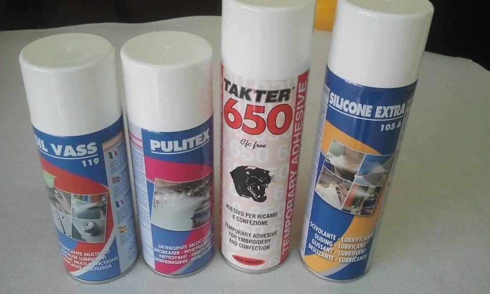 Spray, silicone, Olio, Pulitex, Sil Vass.